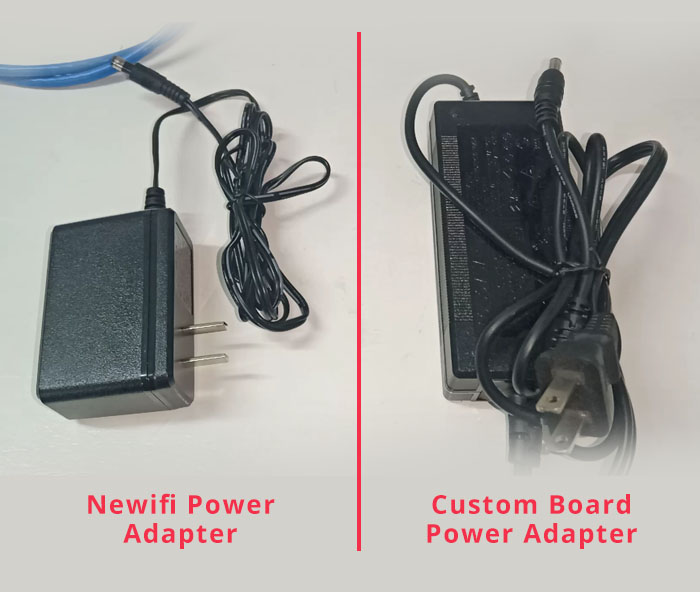 custom board and newifi power adapter